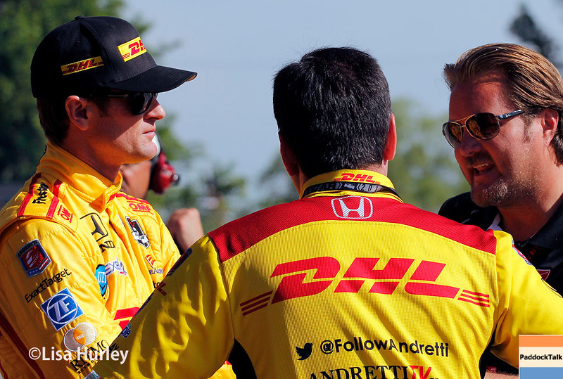 June 1: Ryan Hunter-Reay and Beau Barfield during qualifying for Race 2 of the Chevrolet Detroit Belle Isle Grand Prix.