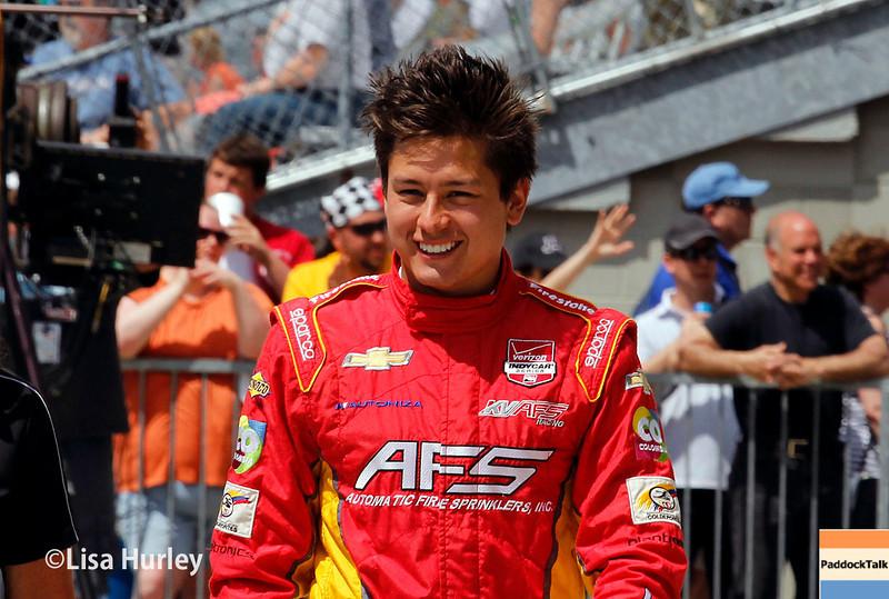 May 10: Sebastian Saavedra during the Grand Prix of Indianapolis.