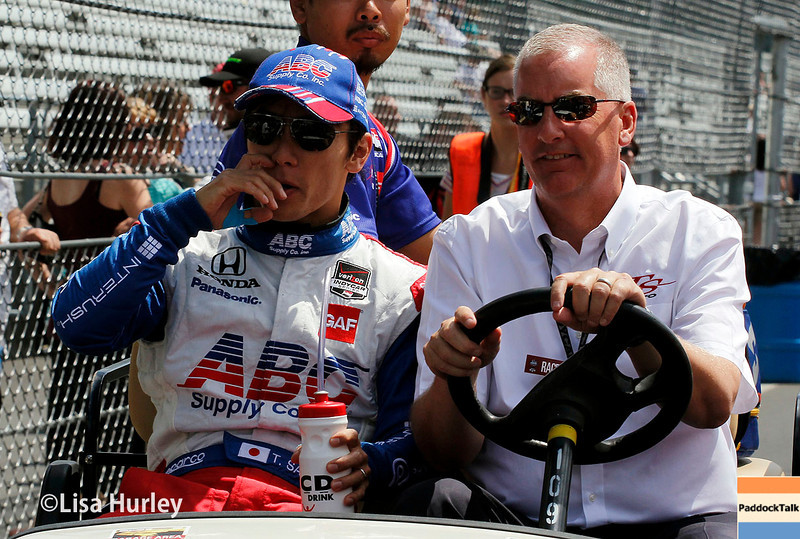 May 10: Takuma Sato before the Grand Prix of Indianapolis.
