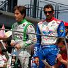 May 10: Carlos Munoz and Justin Wilson before the Grand Prix of Indianapolis.