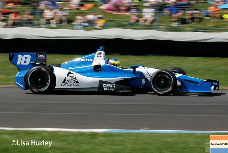 May 10: Carlos Huertas during the Grand Prix of Indianapolis.