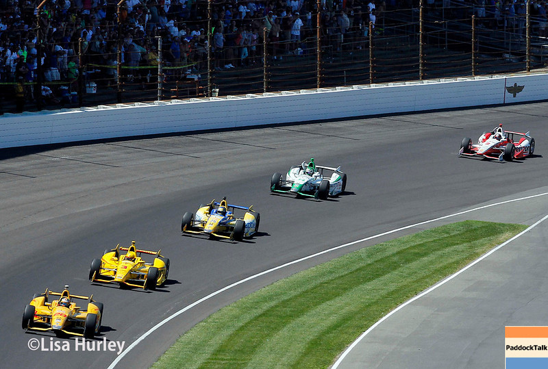 May 25: Track action during the 98th Indianapolis 500.