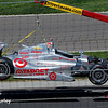 May 25: Scott Dixon's crashed car during the 98th Indianapolis 500.