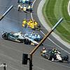 May 25: Ed Carpenter and James Hinchcliffe crash during the 98th Indianapolis 500.