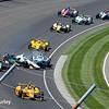 May 25: Ed Carpenter crash into James Hinchcliffe during the 98th Indianapolis 500.