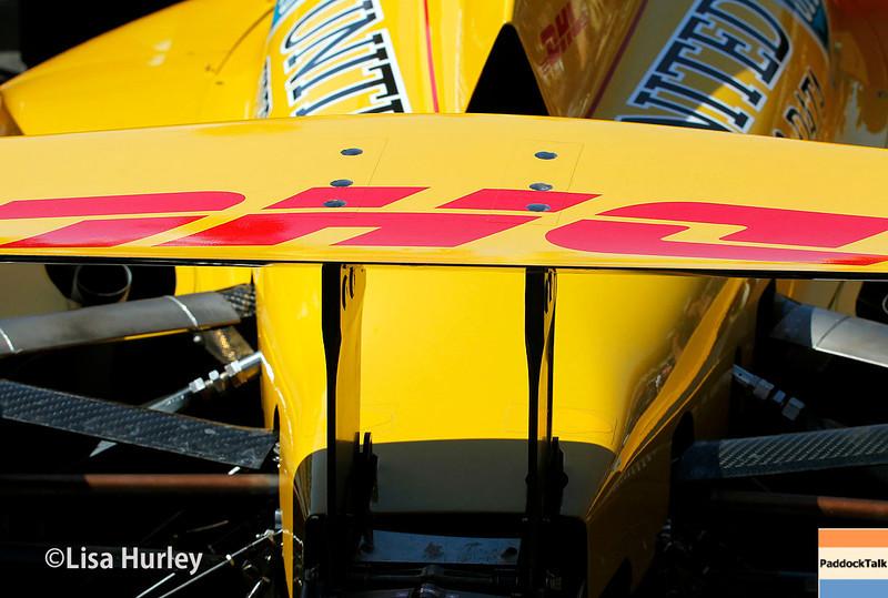 May 25: Ryan Hunter-Reay's car before the 98th Indianapolis 500.