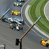 May 25: Ed Carpenter crash into James Hinchliffe during the 98th Indianapolis 500.