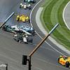 May 25: Ed Carpenter crash into James Hinchliffe during the 98th Indianapolis 500.