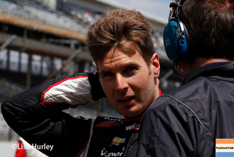 May 17: Will Power during qualifying for the Indianapolis 500.