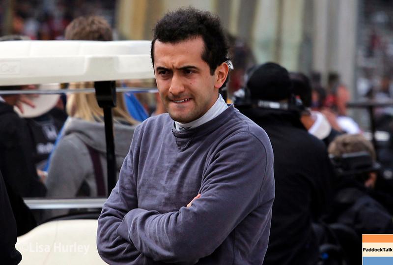 May 17: Carlos Huertas during qualifying for the Indianapolis 500.
