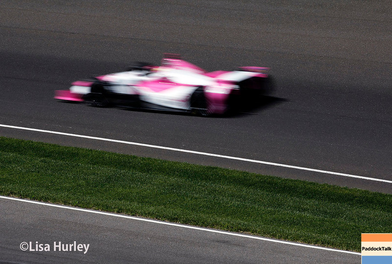 May 23: Pippa Mann during Carburetion Day for the Indianapolis 500.