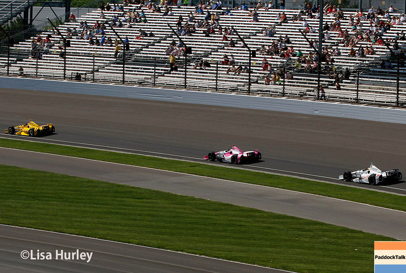 May 23: Track action during Carburetion Day for the Indianapolis 500.