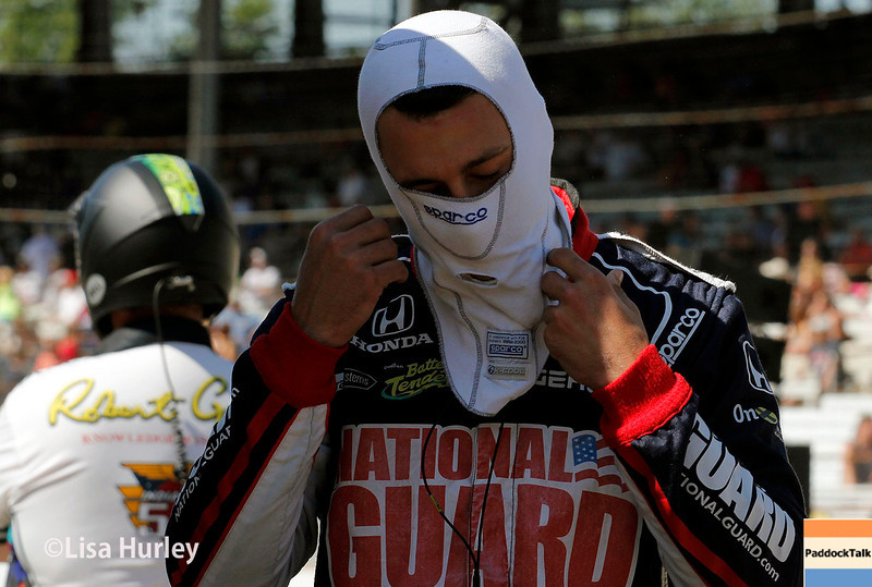 May 23: Graham Rahal during Carburetion Day for the Indianapolis 500.