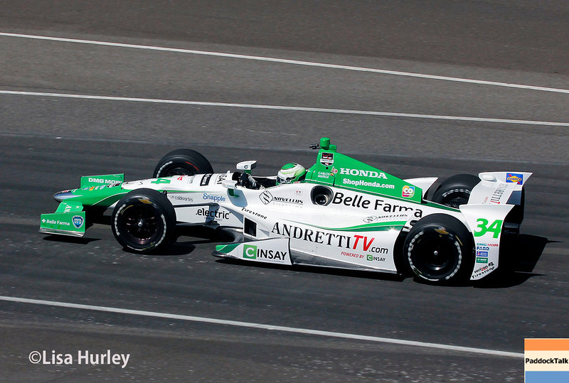 May 23: Carlos Munoz during Carburetion Day for the Indianapolis 500.