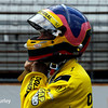 May 17: Jacques Villeneuve during qualifying for the Indianapolis 500.