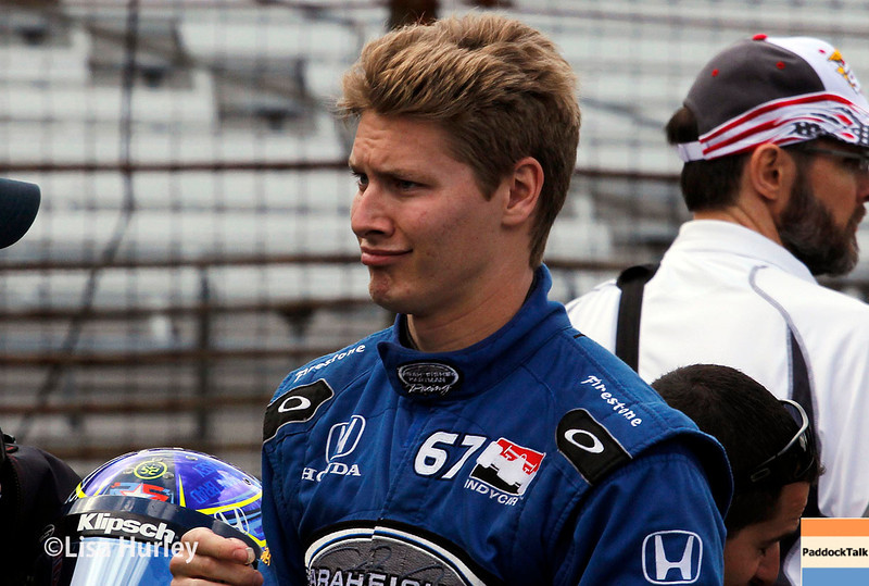 May 17: Josef Newgarden during qualifying for the Indianapolis 500.