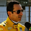May 17: Helio Castroneves during qualifying for the Indianapolis 500.