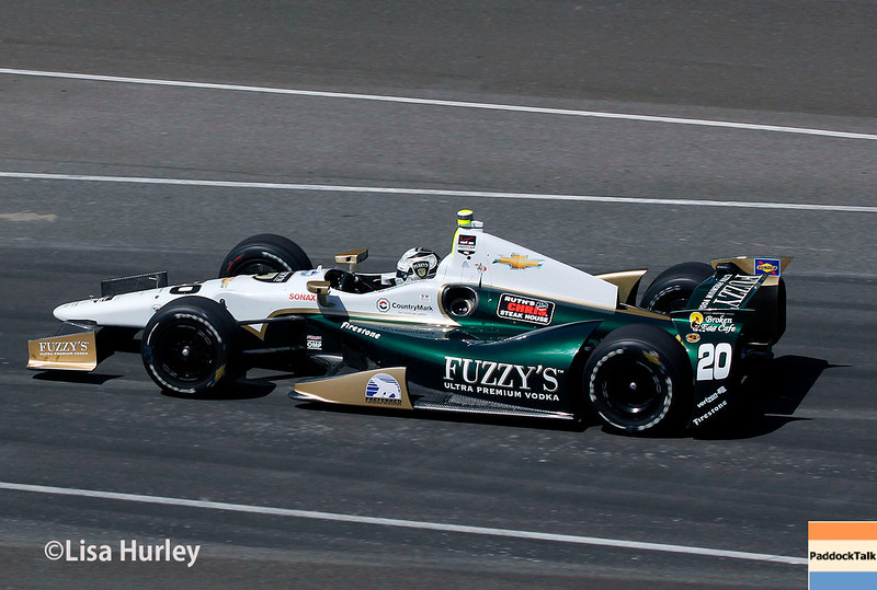May 23: Ed Carpenter during Carburetion Day for the Indianapolis 500.