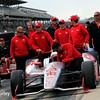 May 17: Tony Kanaan and team during qualifying for the Indianapolis 500.
