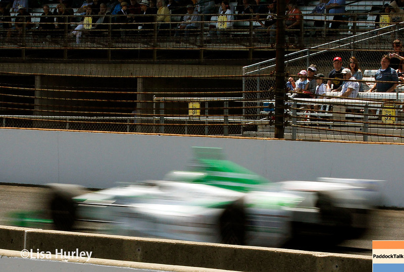 May 17: Carlos Munoz during qualifications for the Indianapolis 500.