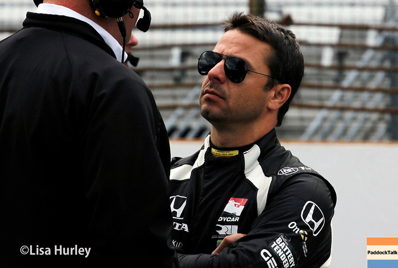 May 17: Oriol Servia during qualifying for the Indianapolis 500.
