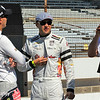 May 23: Graham Rahal, Townsend Bell and Bobby Rahal before Carburetion Day for the Indianapolis 500.