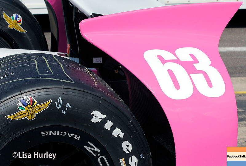 May 17: Pippa Mann's car before qualifying for the Indianapolis 500.