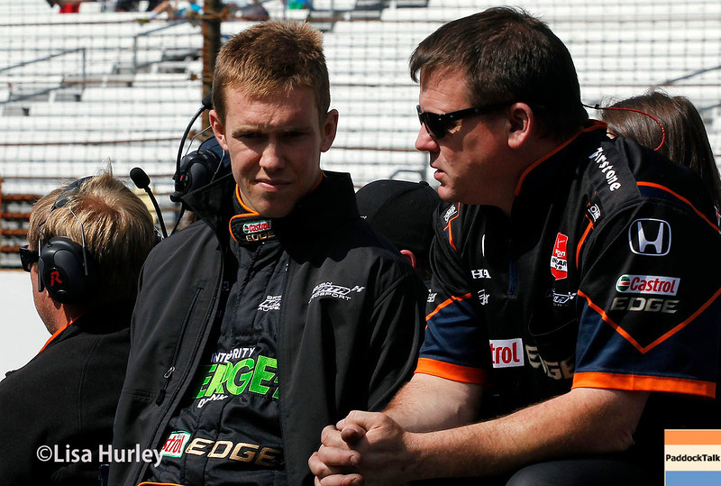 May 17: Jack Hawksworth during qualifying for the Indianapolis 500.