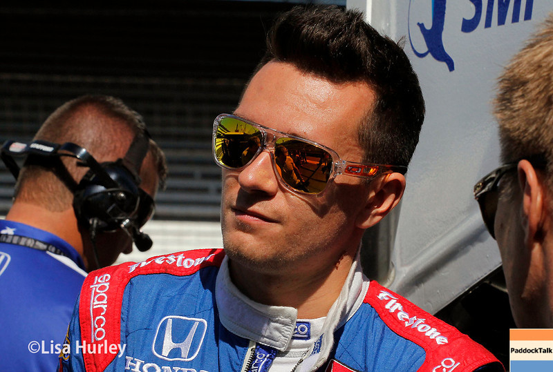May 23: Mikhail Aleshin during Carburetion Day for the Indianapolis 500.