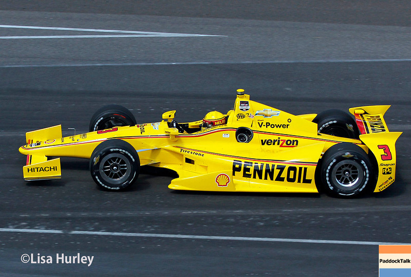 Helio Castroneves during Carb Day for the Indianapolis 500.