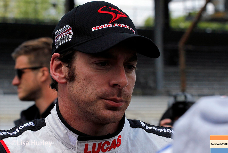 May 17: Simon Pagenaud during qualifying for the Indianapolis 500.