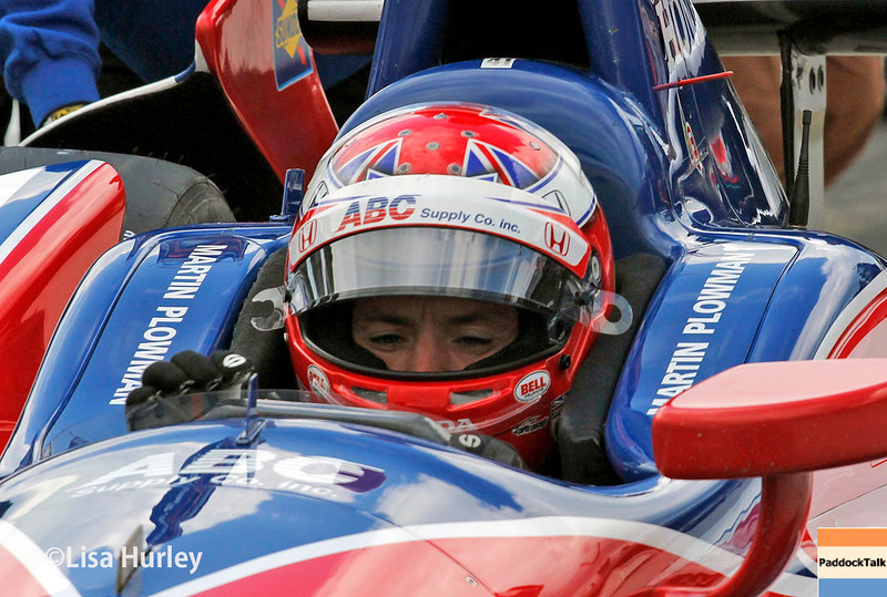 May 17: Martin Plowman during qualifying for the Indianapolis 500.