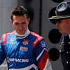 May 17: Mikhail Aleshin during qualifying for the Indianapolis 500.