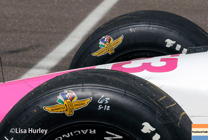 May 23: Pippa Mann's car before Carburetion Day for the Indianapolis 500.