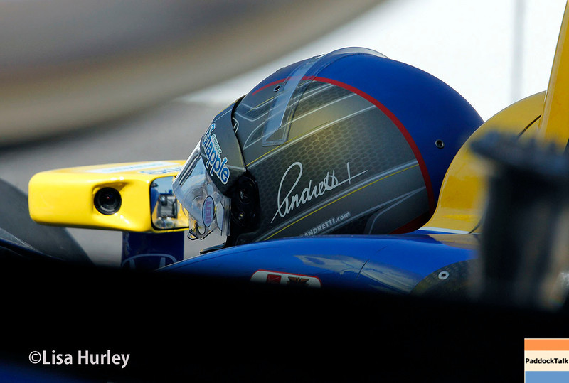 May 23: Marco Andretti during Carburetion Day for the Indianapolis 500.