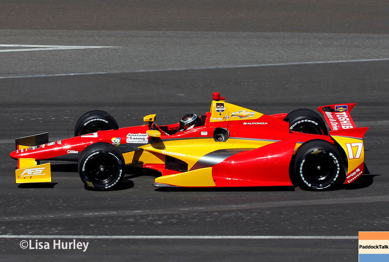 May 23: Sebastian Saavedra during Carburetion Day for the Indianapolis 500.