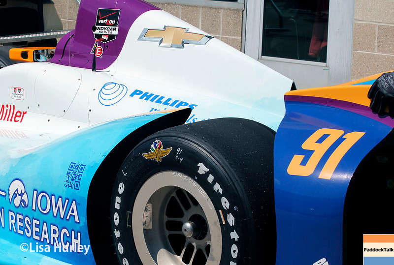 May 17: Buddy Lazier's car during qualifications for the Indianapolis 500.