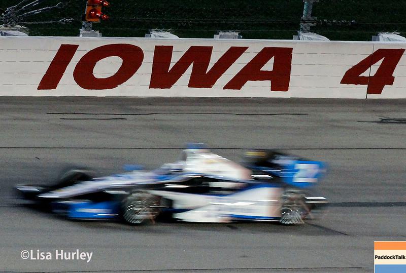July 12: Juan Montoya at the Iowa Corn Indy 300.