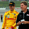 July 11: Ryan Hunter-Reay and Michael Young at the Iowa Corn Indy 300.