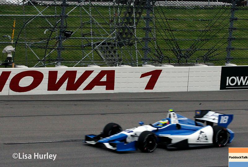 July 11: Carlos Huertas at the Iowa Corn Indy 300.