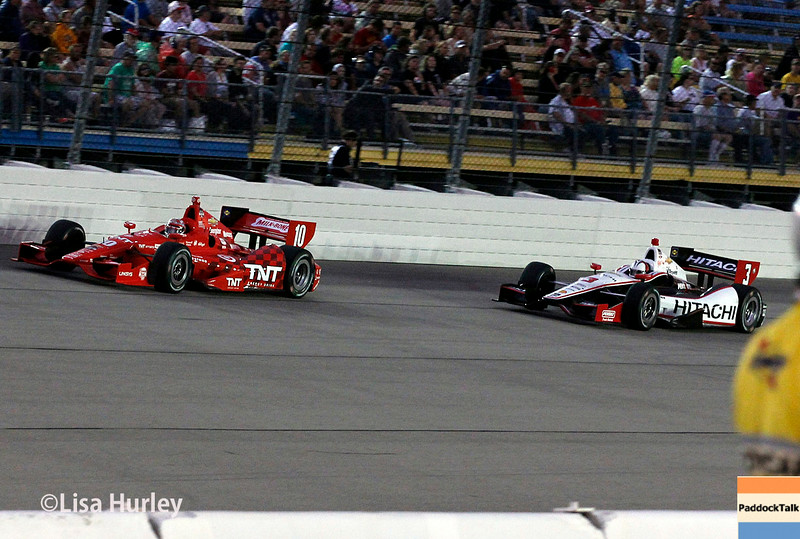 July 12: Tony Kanaan and Helio Castroneves at the Iowa Corn Indy 300.