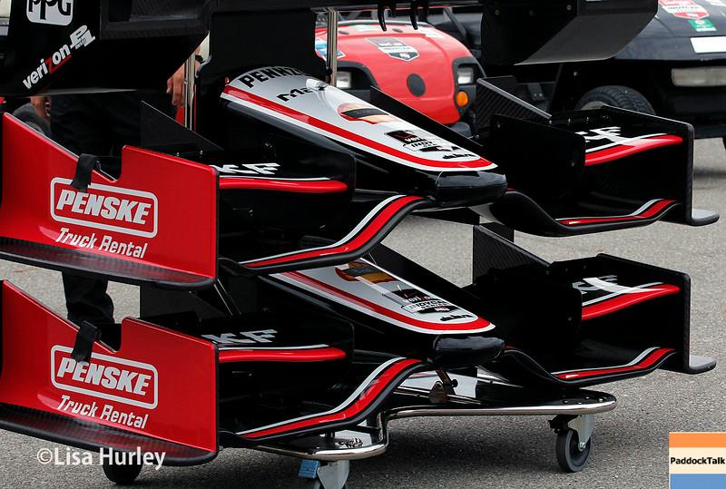 July 11: Team Penske nose cones at the Iowa Corn Indy 300.