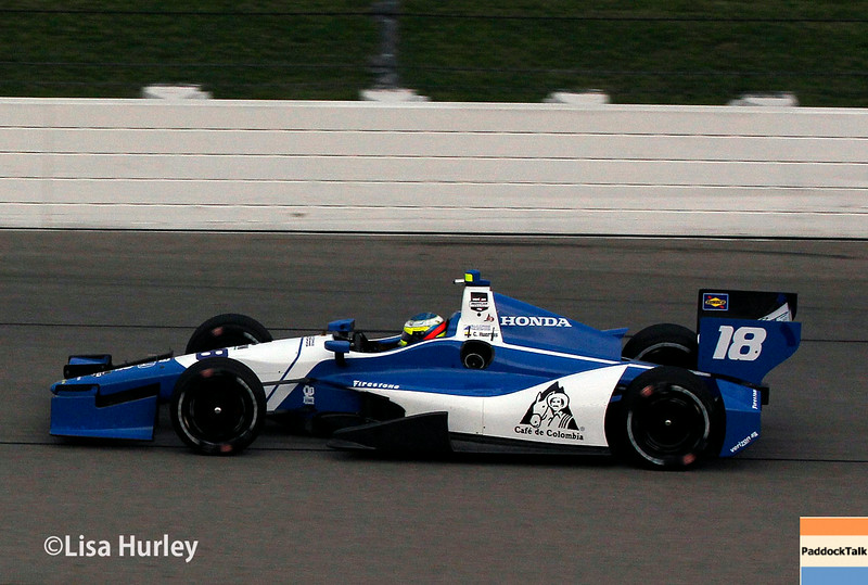 July 11: Carlos Huertas at the Iowa Corn Indy 300.