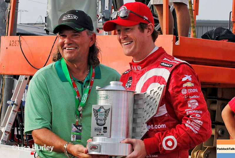 July 11: Scott Dixon, Pole winner at the Iowa Corn Indy 300.