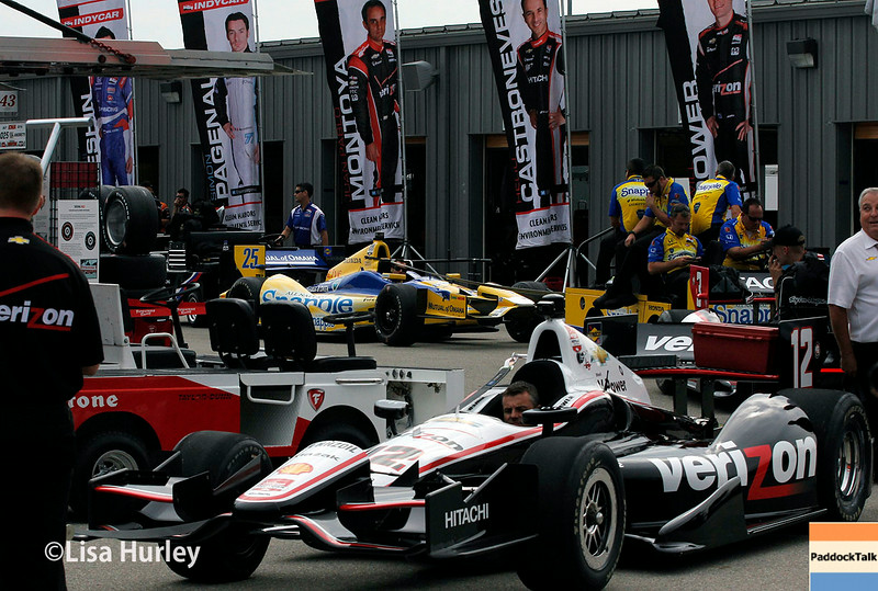 July 11: Garage action at the Iowa Corn Indy 300.