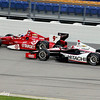 July 12: Scott Dixon and Helio Castroneves at the Iowa Corn Indy 300.