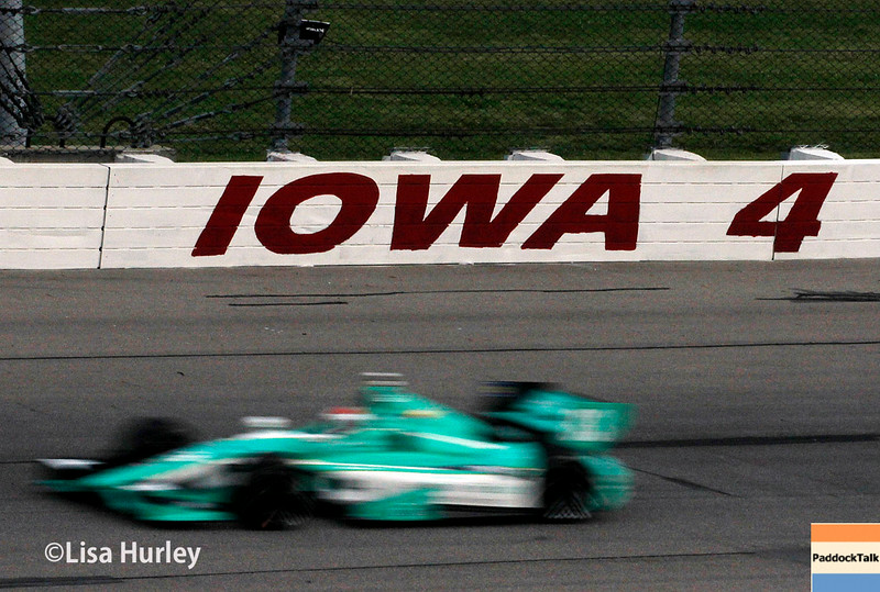 July 11: Charlie Kimball at the Iowa Corn Indy 300.