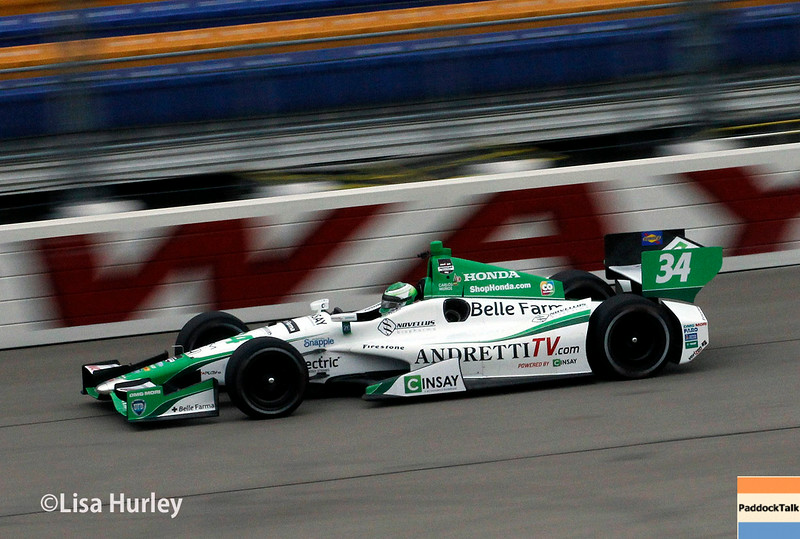 July 11: Carlos Munoz at the Iowa Corn Indy 300.