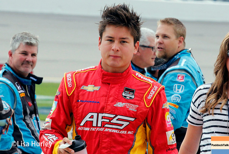 July 12: Sebastian Saavedra at the Iowa Corn Indy 300.
