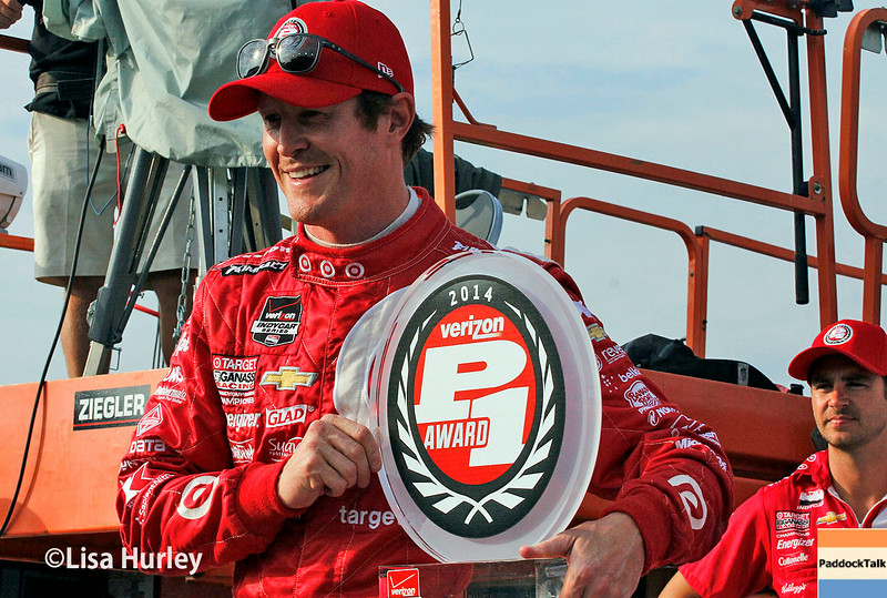 July 11: Pole winner, Scott Dixon, at the Iowa Corn Indy 300.